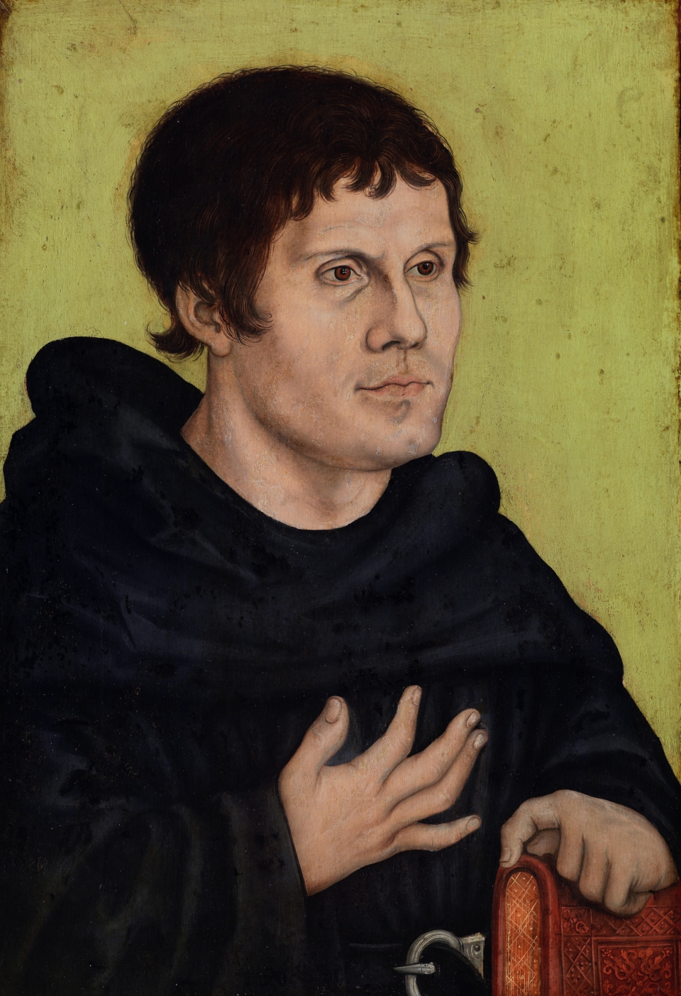 Martin Luther as an Augustinian Monk *parchment, on panel *43.6 × 29.8 cm *after 1546